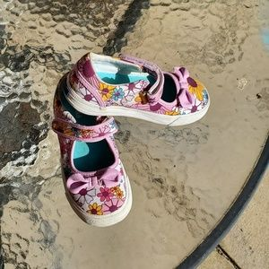 KEDS floral Ella Mary Jane sneakers